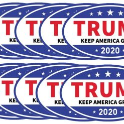 kortes 10 Pack Donald Trump Magnet for 2020 President United States, Trump Magnetic Bumper Sticker for Patriot and Election Time, Stick on Cars, Refrigerator Etc - Keep America Great, 6 X 3.5 Inch