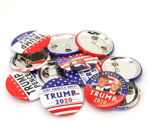 Trump Buttons- Keep America Great Trump 2020 Presidential Election Campaign Buttons-Donald Trump Election Button Pack of 12