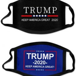 Trump Face Mask 2-Pack Cotton Comfortable Protective Masks Reusable Washable Face Cloth Cover MAGA KAG Trump 2020 Men Women