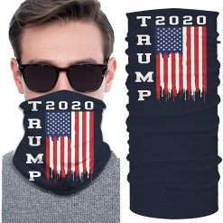 Unisex Trump 2020 Face Mask Neck Gaiter Windproof Mask Dust Outdoor Balaclava Scarf Bandana