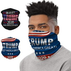 Trump 2020 Face Mask 2 Pack, Multipurpose Neck Gaiter, Elastic Face Cover Masks Balaclava Headband Scarf for Men & Women