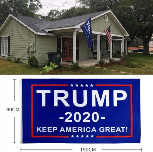 HOMERIT Donald Trump 2020 Flag America Flags Vivid Color Trump Supporting Set, Make America Great Again - Indoors Outdoors Banner - 3 X 5 Ft