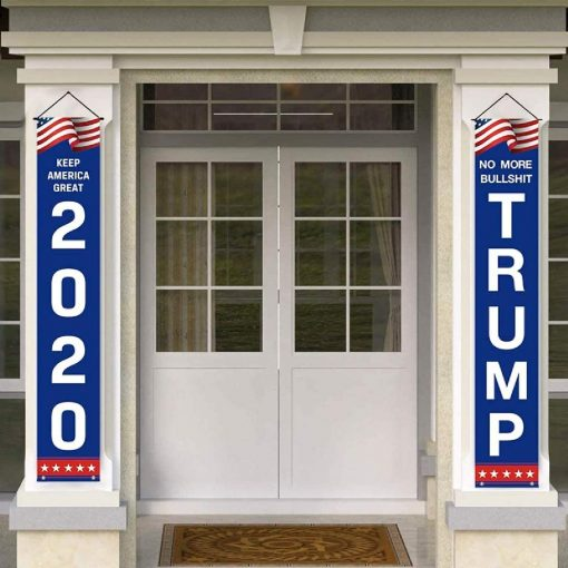 Trump 2020 Flag, Banners Set, Outdoor Yard Sign, 2 Pcs Set, Keep America Great, Front Yard, Garden and Outdoor, 600D Oxford Fabric