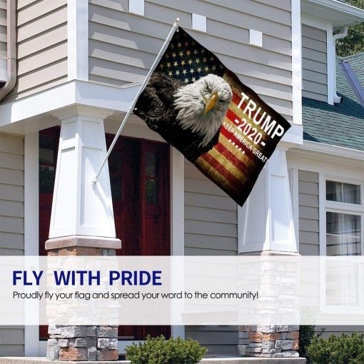 Lankony Eagle America Flag Trump 2020 Keep America Great Outdoor Flag Banner Garden Flag Fade Resistant Decorative Flags 3x5 Ft