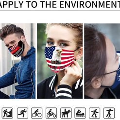 Trump 2020 Face Mask Cotton Protective Masks Reusable Washable Face Cloth Cover Outdoor for Women Men Kids