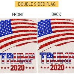 Bonsai Tree Trump 2020 Flags 12x18, Double Sided American President Election Burlap House Flags, Patriotic American Flag Glitter Vertical Yard Banners Gifts Welcome Home Outdoor Decor