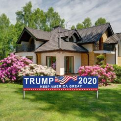 Fingertip WD Large Trump 2020 Keep America Great Flag Outdoor Decorations for President 2020 Banner Sign Outdoor & Indoor Decor