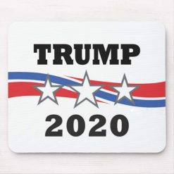 "Trump 2020 USA Mouse Pad Funny Stars and Stripes Mouse Mat Non-Slip Rubber Base for Politcal Campaign Laptop Computer PC 9.5""x7.13"", White Color:Trump 2020"