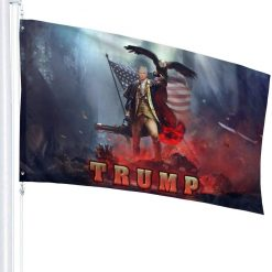 Juhucc Trump Flag 3x5 Foot American Flag Garden Flag for Party Decorations,Parades,Election Day Celebration Event