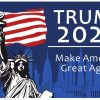 Bincoch Donald Trump President Outdoors Flag 2020 3x5 Feet Yard Sign,Make American Great Again Flag with The Statue of Liberty Pattern and Grommets.