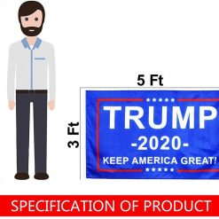 GABOX Trump Flag Trump Flags 3x5 Outdoor Trump Flag 2020 Dont Tread On Me Flag 3x5 Cool Flags Trump MAGA Merchandise Trump 2020 Sticker Temporary Tattoos Us Flags Donald Trump Gifts Trump Stuff