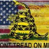 oFloral American Flag Gaming Mouse Pad Dont Tread On Me Letter Yellow Snack Brick Wall Decorative Mousepad Rubber Base Home Decor for Computers Laptop Office Home 7.9X9.5 Inch