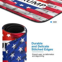 American USA Trump Flag Mouse Pad Customized, Premium Rectangle Mouse Pad, Non-Slip Rubber Gaming Mouse Pad for Laptop, Computer & PC, 11.8 X 9.8 Inch.