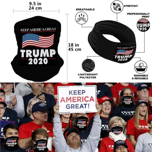 Donald Trump 2020 Flag 3x5 Outdoor and Indoor Decoration Banner, Included Hat, Bandana, Handheld Flags - Keep America Great President Package, Trump 2020 Set