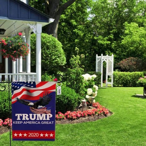 Angeloken Vintage Garden Flags Trump Keep America Great 2020 Yard Flag Vertical Double Sided Burlap Season House Flags Farm Lawn Outdoor Decor Garden Banner 12.5 x 18 Inch Spring Summer